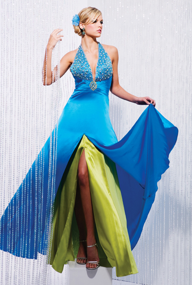 blue prom dresses silk long