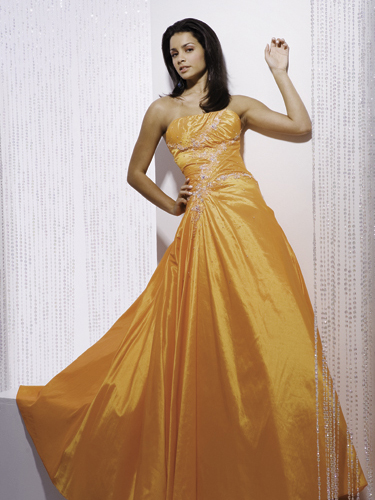 yellow cinderella prom dresses