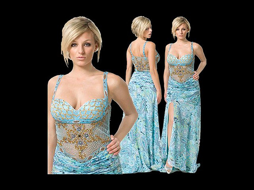 brown and teal prom dresses